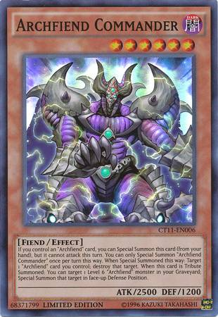 Archfiend Commander (#CT11-EN006)