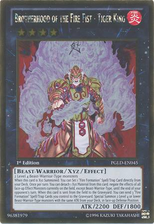 Brotherhood of the Fire Fist - Tiger King (#PGLD-EN045)
