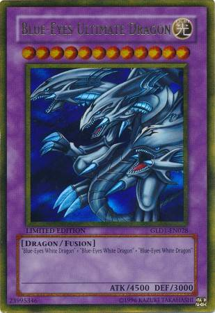 Blue-Eyes Ultimate Dragon (#GLD1-EN028)