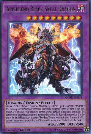 Archfiend Black Skull Dragon (#CORE-EN048)