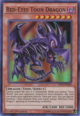 Red-Eyes Toon Dragon (#SHVI-EN036)