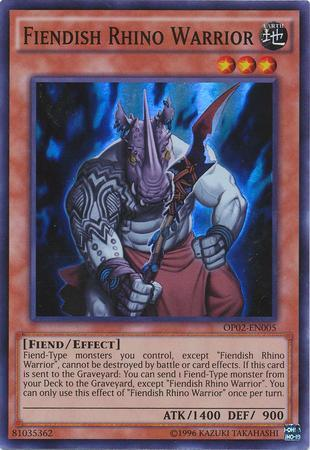 Fiendish Rhino Warrior (#OP02-EN005)