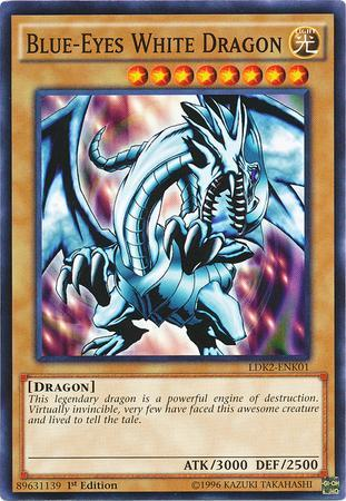 Blue-Eyes White Dragon (Red Sparks Background) (#LDK2-ENK01)
