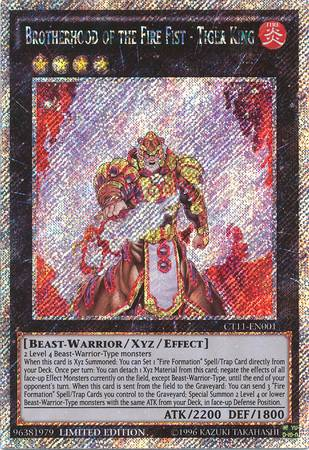 Brotherhood of the Fire Fist - Tiger King (#CT11-EN001)