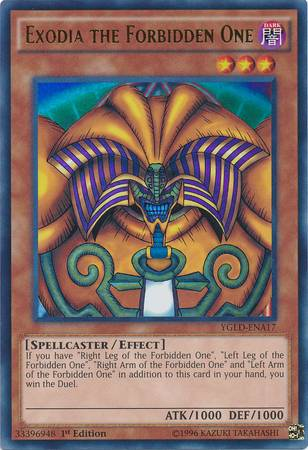 Exodia the Forbidden One (#YGLD-ENA17)