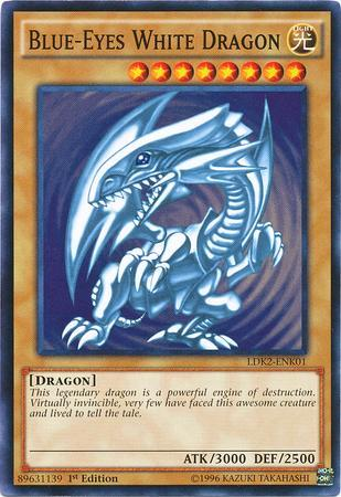 Blue-Eyes White Dragon (Blue Ripple Background) (#LDK2-ENK01)