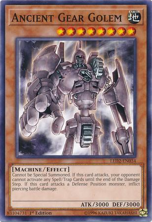 Ancient Gear Golem (#LED2-EN034)