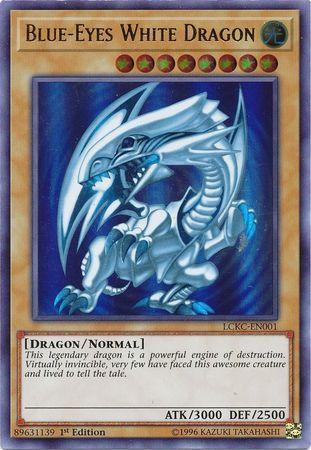 Blue-Eyes White Dragon (Blue Ripple Background) (#LCKC-EN001)