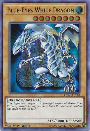 Blue-Eyes White Dragon (Tablet Background) (#LCKC-EN001)