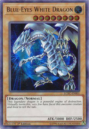 Blue-Eyes White Dragon (Earth Background) (#LCKC-EN001)